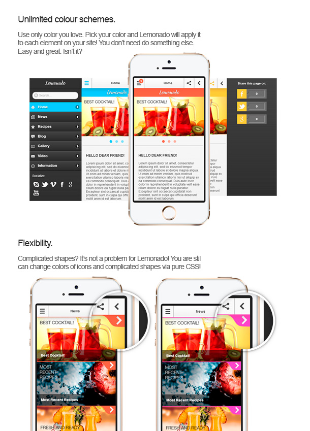 Lemonado - Multi-purpose Mobile Web Application